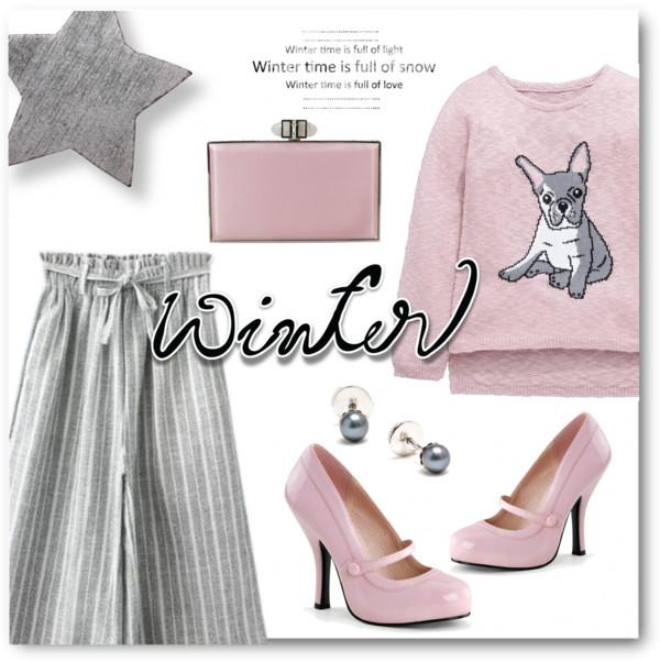Pink & Gray Winter Style