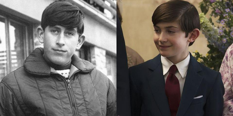 <p>Julian Baring portrayed Prince Charles from the ages of 12 to 16 in Season 2 of <em>The Crown</em>. </p>