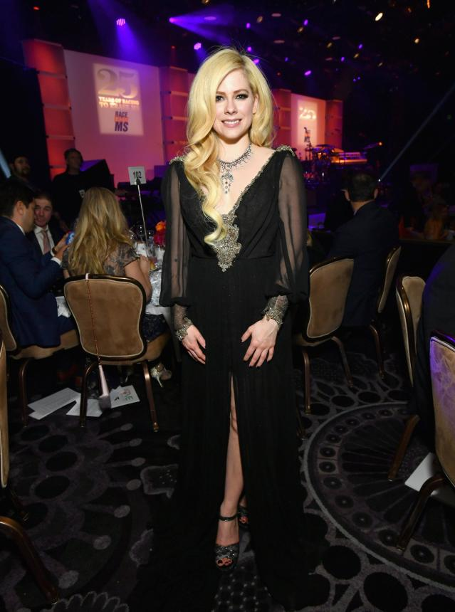 Avril Lavigne at the 25th Annual Race to Erase MS Gala at the Beverly Hilton Hotel on April 20 (Photo:  Emma McIntyre/Getty Images for Race to Erase MS)