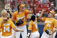 """<p>Abbott became a bona fide star when she pitched for Tennessee from 2004 to 2007, throwing an incredible <a href=""""https://utsports.com/sports/softball/roster/monica-abbott/3828"""" class=""""link rapid-noclick-resp"""" rel=""""nofollow noopener"""" target=""""_blank"""" data-ylk=""""slk:23 no-hitters and six perfect games"""">23 no-hitters and six perfect games</a> during her time as a Vol. She led the team to a runner-up finish at the Women's College World Series in 2007 and logged a 0.79 ERA over her entire NCAA career. She was also the first pitcher in NCAA Division I history to record 500 strikeouts in four separate seasons.</p>"""