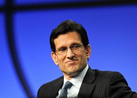"""U.S. House Majority Leader Cantor takes part in a panel discussion titled """"The Awesome Responsibility of Leadership"""" at the Milken Institute Global Conference in Beverly Hills, California"""