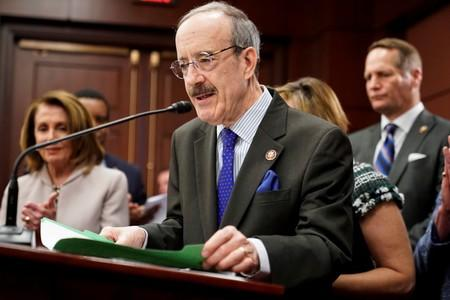 U.S. Rep. Engel speaks during introduction of Climate Action Now Act on Capitol Hill in Washington