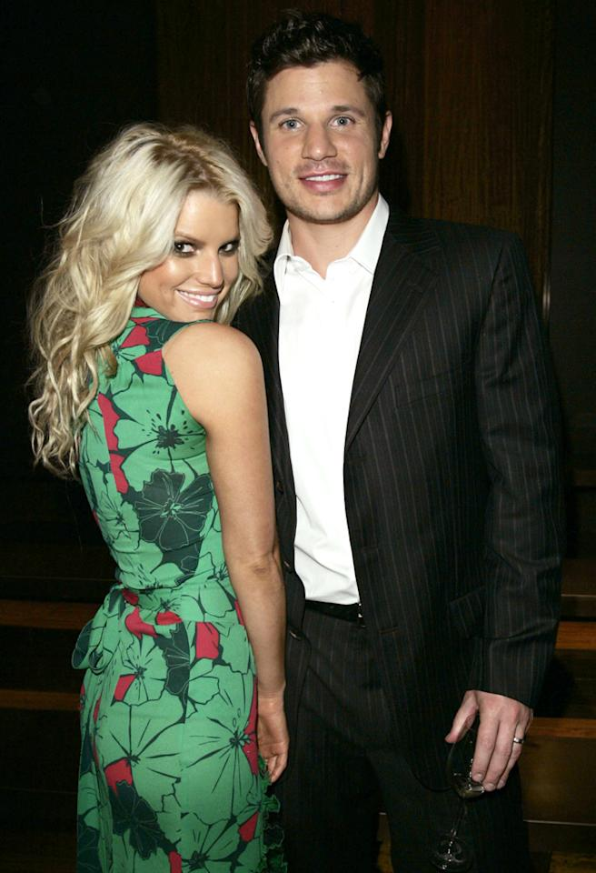 Jessica Simpson and Nick Lachey (Photo by Donato Sardella/WireImage)