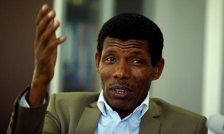 FILE PHOTO: Haile Gebrselassie, former Ethiopia's long distance runner and Olympic champion, speaks during an interview with Reuters in his office after he was elected president of the Ethiopian Athletics Federation in Addis Ababa, Ethiopia November 7, 2016. REUTERS/Tiksa Negeri/File Photo