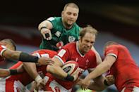 Alun Wyn Jones captained Wales on his 153rd Test appearance