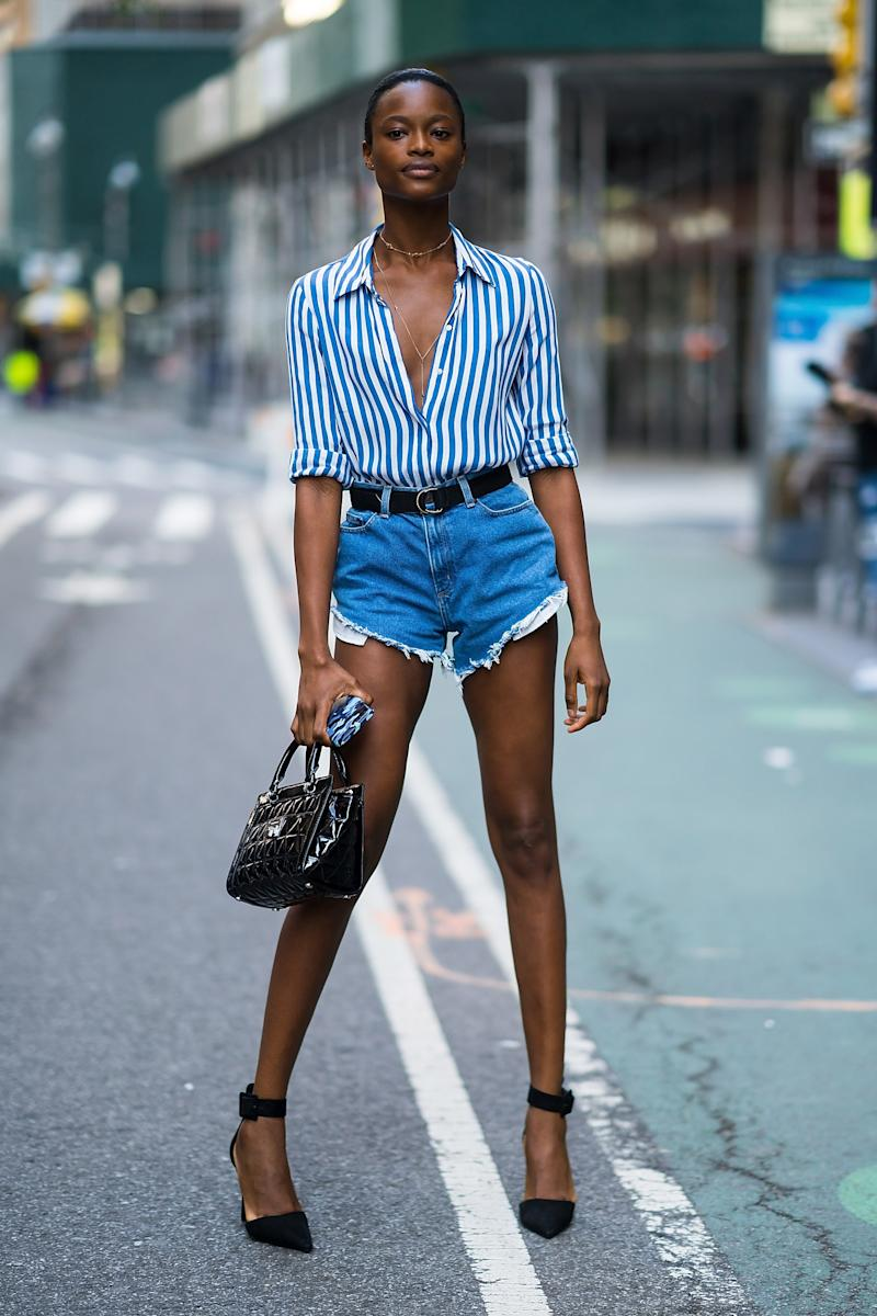 NEW YORK, NY - SEPTEMBER 04: Mayowa Nicholas attends casting for the 2018 Victoria's Secret Fashion Show in Midtown on September 4, 2018 in New York City. (Photo by Gotham/GC Images)