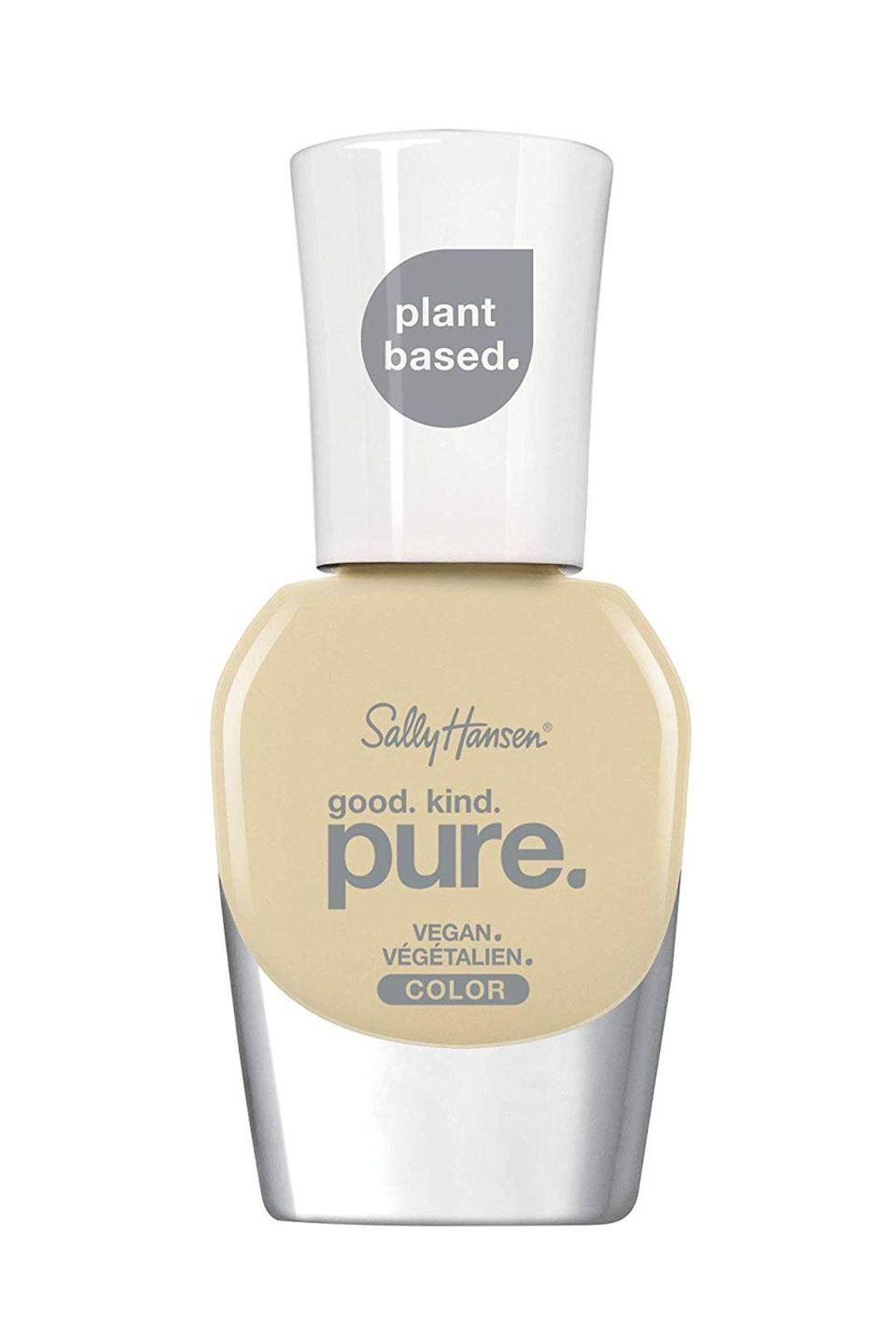 """<p><strong>Sally Hansen</strong></p><p>amazon.com</p><p><strong>$6.72</strong></p><p><a href=""""https://www.amazon.com/dp/B08148DKQ2?tag=syn-yahoo-20&ascsubtag=%5Bartid%7C10065.g.2741%5Bsrc%7Cyahoo-us"""" rel=""""nofollow noopener"""" target=""""_blank"""" data-ylk=""""slk:SHOP NOW"""" class=""""link rapid-noclick-resp"""">SHOP NOW</a></p><p>If a vivid yellow isn't really your kind of thing, try this toned down creamy variety instead.</p>"""