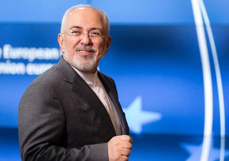 Iranian Foreign Minister Mohammad Javad Zarif arrives at the EU headquarters in Brussels on May 15, 2018