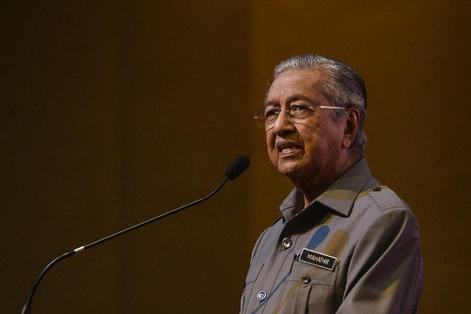 Former prime minister Tun Dr Mahathir Mohamad said he ultimately failed to get sufficient numbers of MPs to back him in forming a unity government last year. — File picture by Miera Zulyana