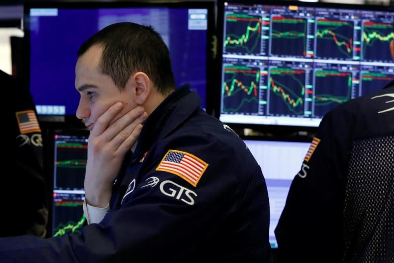 Stocks fall as fears about deadly virus grow; Dow drops 125