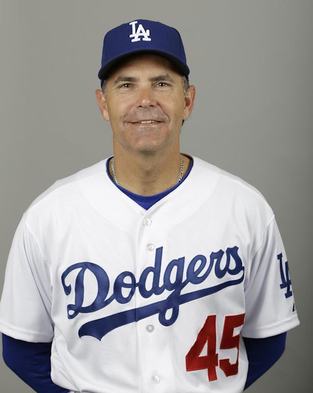 This is a 2013 photo of Los Angeles Dodgers bench coach Trey Hillman. This image reflects the Los Angeles Dodgers baseball team active roster when this image was taken in Phoenix, Sunday, Feb. 17, 2013. (AP Photo/Paul Sancya)
