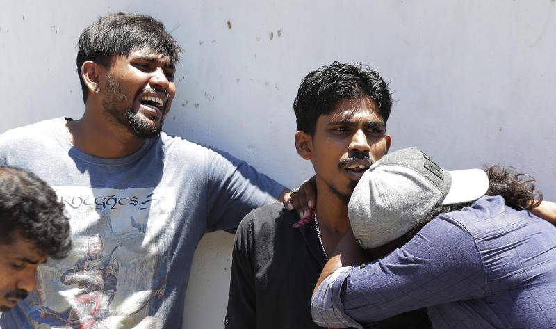 The Latest: Pope denounces 'cruel violence' in Sri Lanka