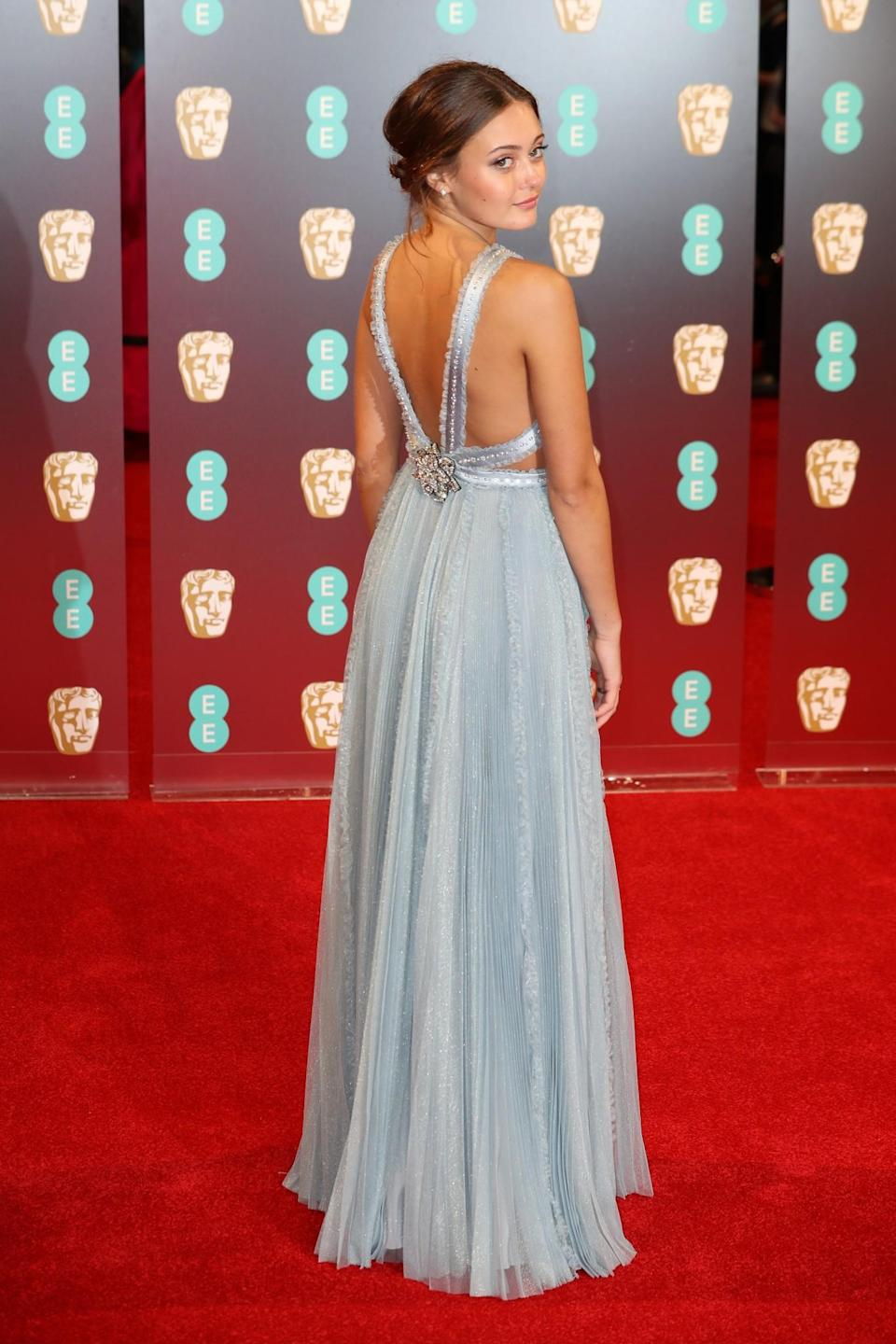 <p>Ella was fit for a Disney film in a fairytale-like blue gown. <i>[Photo: Getty]</i> </p>