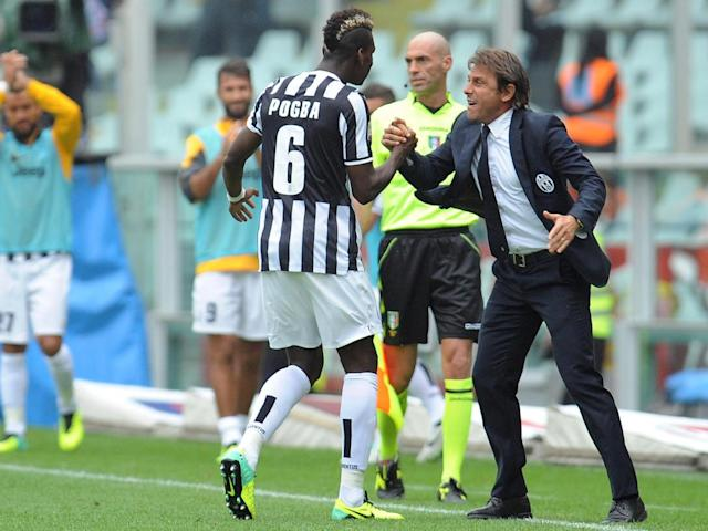 Conte brought Pogba to Juve from Manchester United in 2012 (Getty)