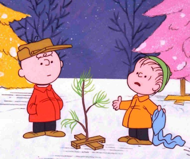 A Christmas take on the comical, well-known characters from Peanuts.