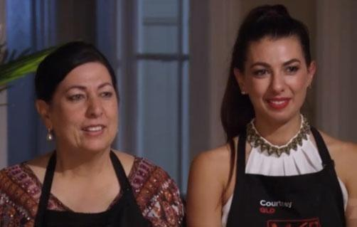 Courtney and Valerie manage to whip up a dish that is to Colin's liking. Source: Channel Seven