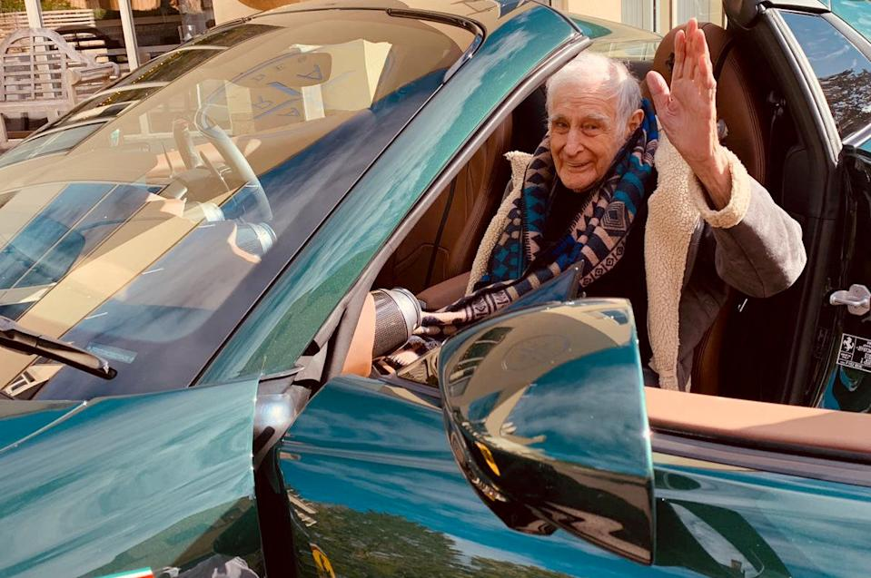 John, 91, asked to ride in a Ferrari (swns)