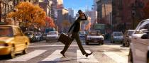 """This image released by Disney-Pixar shows the character Joe Gardner, voiced by Jamie Foxx, in a scene from the animated film """"Soul."""" (Disney Pixar via AP)"""