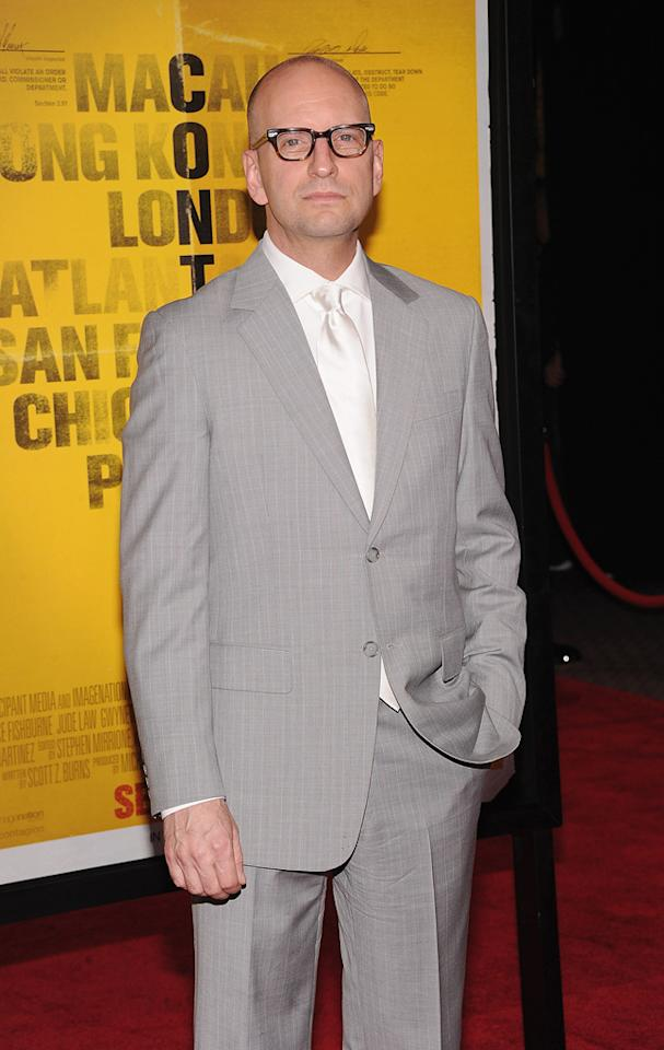 "<a href=""http://movies.yahoo.com/movie/contributor/1800019577"">Steven Soderbergh</a> at the New York City premiere of <a href=""http://movies.yahoo.com/movie/1810161340/info"">Contagion</a> on September 7, 2011."