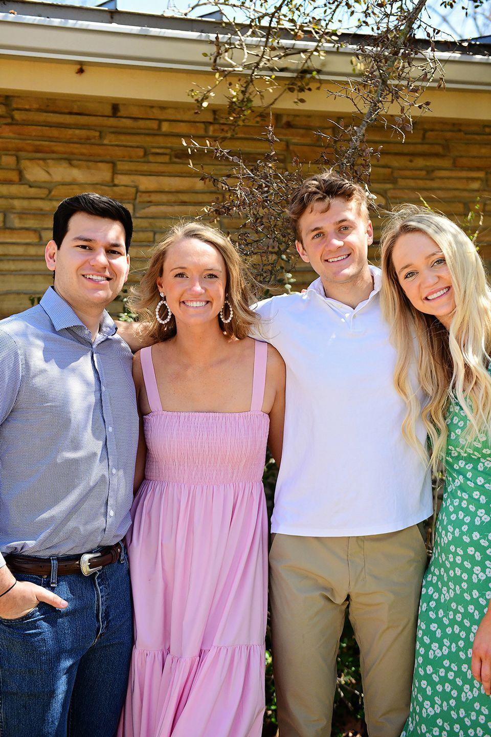 """<p>These four kids saved my bacon when the Covid shutdown happened. They agreed to step in with iPhones and <a href=""""https://www.thepioneerwoman.com/ree-drummond-life/a35687100/the-pioneer-woman-show-filming-drummond-family/"""" rel=""""nofollow noopener"""" target=""""_blank"""" data-ylk=""""slk:film my Food Network show"""" class=""""link rapid-noclick-resp"""">film my Food Network show</a>...and what we thought would be a short run of five or six episodes has turned into over fifty (!)...with more on the schedule. With things getting better in the world, I know my crew from England will be able to come back sooner rather than later...but I'm so grateful for these kids for helping out their mom/mother-in-law-to-be/aunt!</p>"""
