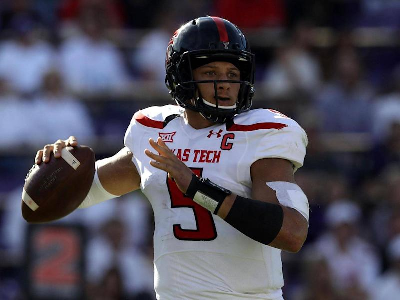 Texas Tech's Patrick Mahomes is rising up draft boards (Getty)