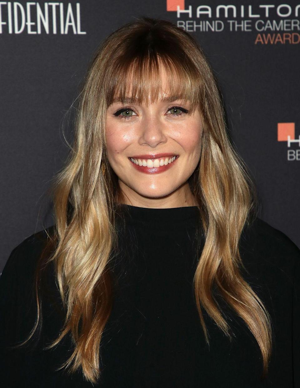 <p>The actress debuted a new eyebrow-skimming fringe at the 'Hamilton Behind The Camera Awards'. The 29-year-old gave her seriously shiny long blonde hair a choppy fringe update and just went straight on to our Pinterest boards.</p>