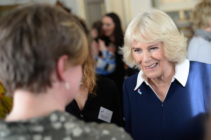 LONDON, ENGLAND - FEBRUARY 12: Camilla, Duchess of Cornwall hosts a reception to acknowledge the 15th anniversary of domestic abuse charity SafeLives at Clarence House on February 12, 2020 in London, England. (Photo by Eamonn M. McCormack/Getty Images)
