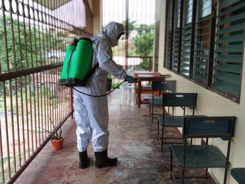 Mandaue City almost done disinfecting public schools used as isolation centers