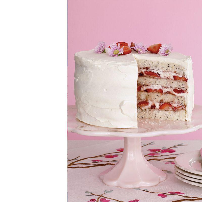 """<p>If you want to do something more exciting than basic chocolate or vanilla, this lemon-flavored cake features strawberries and cream between the layers.</p><p><em><strong><a href=""""https://www.womansday.com/food-recipes/food-drinks/recipes/a10913/lemon-poppy-seed-cake-strawberries-recipe-122355/"""" rel=""""nofollow noopener"""" target=""""_blank"""" data-ylk=""""slk:Get the Lemon Poppy Seed Cake with Strawberries recipe"""" class=""""link rapid-noclick-resp"""">Get the Lemon Poppy Seed Cake with Strawberries recipe</a>. </strong></em></p>"""