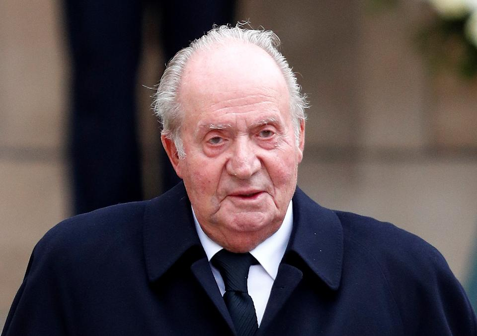 Spain's King Juan Carlos leaves after attending the funeral ceremony of Luxembourg's Grand Duke Jean at the Notre-Dame Cathedral in Luxembourg, May 4, 2019. REUTERS/Francois Lenoir