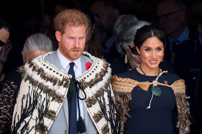 Prince Harry and Meghan Markle in New Zealand in 2018 | Dominic Lipinski/PA Images via Getty