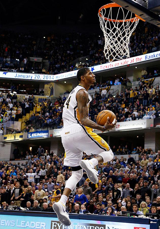 Paul george throws down dunk of the year caliber 360 windmill slam which makes it roughly 1 billion years old by the standards of internet time passage on the other though paul georges fourth quarter acrobatics voltagebd Image collections