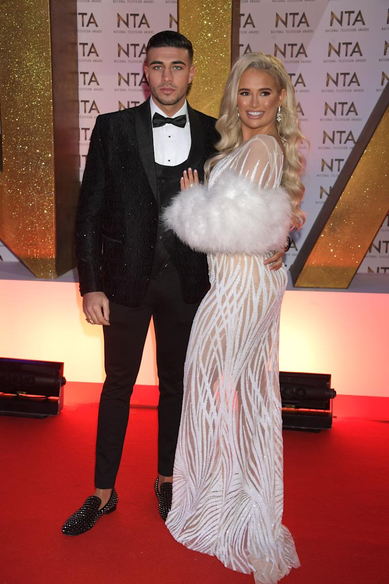 LONDON, ENGLAND - JANUARY 28: Tommy Fury and Molly-Mae Hague attend the National Television Awards 2020 at The O2 Arena on January 28, 2020 in London, England. (Photo by David M. Benett/Dave Benett/Getty Images)