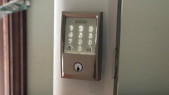 Smart locks are great for providing peace of mind.