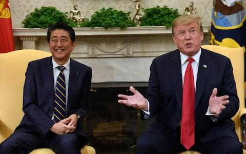 Trump has developed a close relationship with Japanese prime minister Shinzo Abe - Credit: Susan Walsh/AP