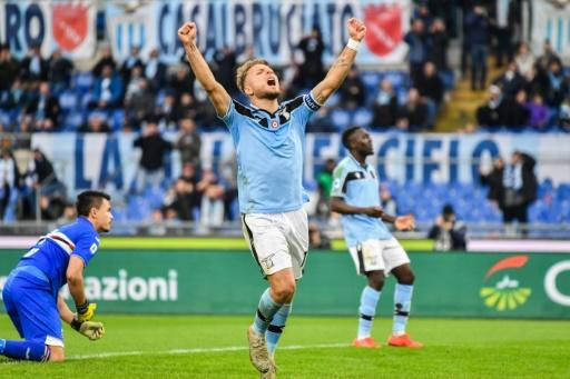 Lazio's Italian forward Ciro Immobile has scored 23 goals in 19 games this season