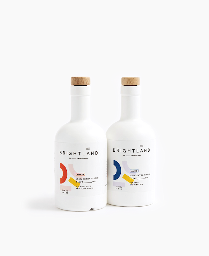 """For foodie dads, this well-reviewed extra-virgin olive oil set is made with California heirloom olives and packed with """"disease-fighting antioxidants and powerful anti-inflammatory properties."""" $74, Brightland. <a href=""""https://brightland.co/products/the-duo"""" rel=""""nofollow noopener"""" target=""""_blank"""" data-ylk=""""slk:Get it now!"""" class=""""link rapid-noclick-resp"""">Get it now!</a>"""