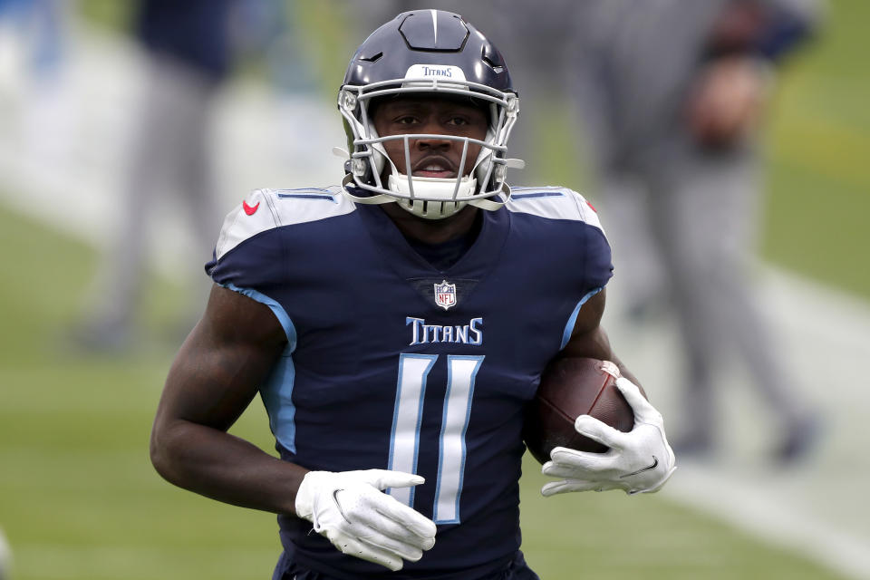 Wide receiver A.J. Brown #11 of the Tennessee Titans