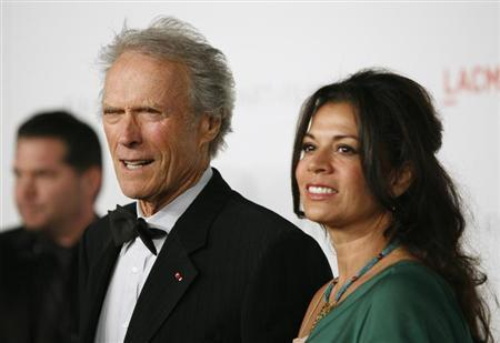 Clint Eastwood and wife Dina Eastwood arrive at the Los Angeles County Museum of Art (LACMA) Art + Film Gala in Los Angeles