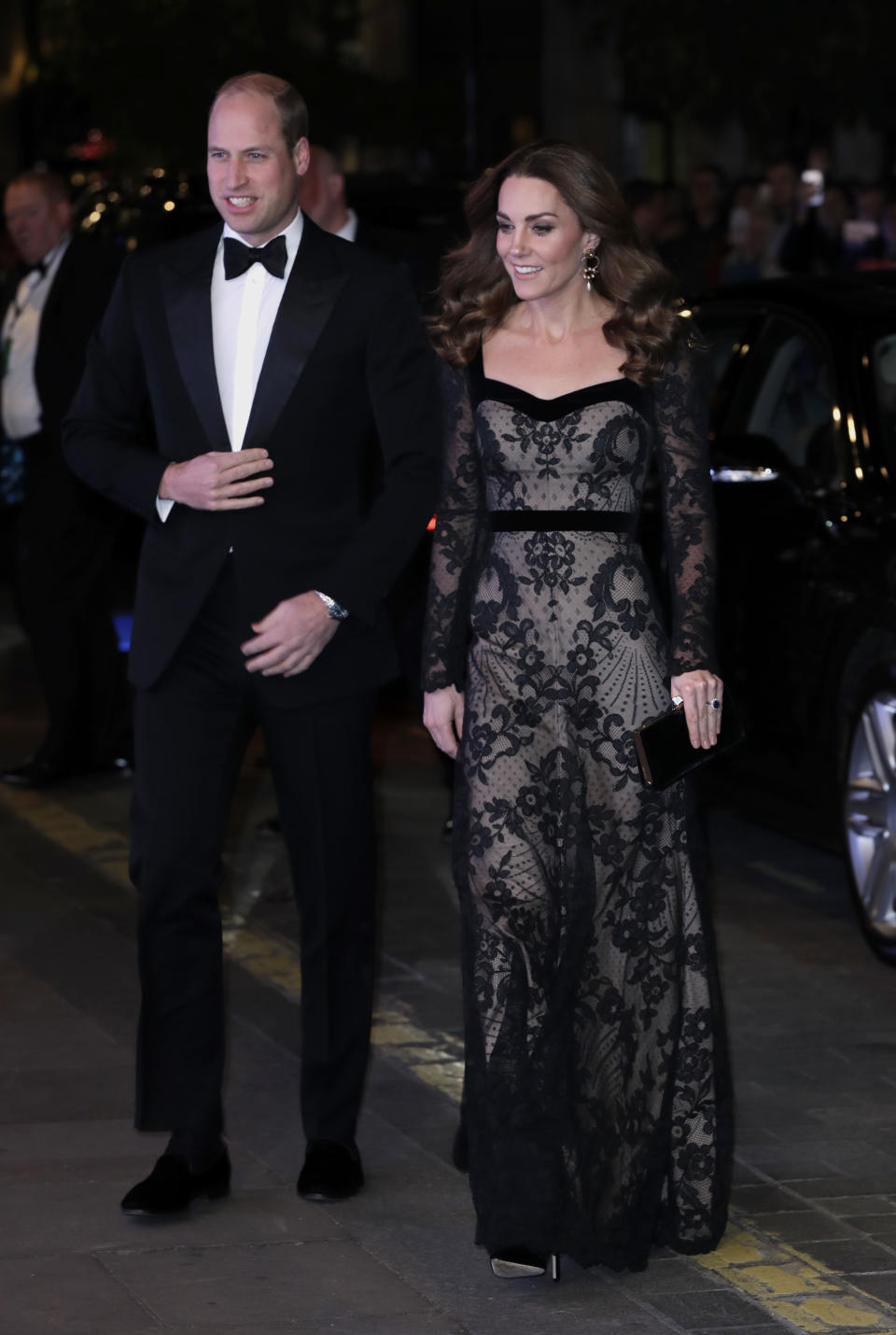 The Duke and Duchess of Cambridge coordinated in black. [Photo: Getty]