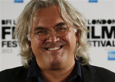 """Director Paul Greengrass attends a photocall for his film """"Captain Phillips"""" during the BFI (British Film Institute) London Film Festival October 9, 2013. REUTERS/Luke MacGregor"""