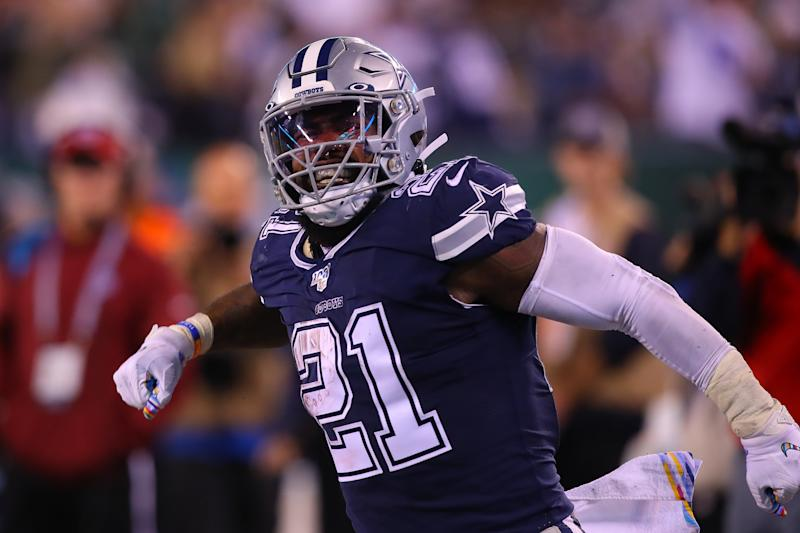 Dallas Cowboys running back Ezekiel Elliott (21)