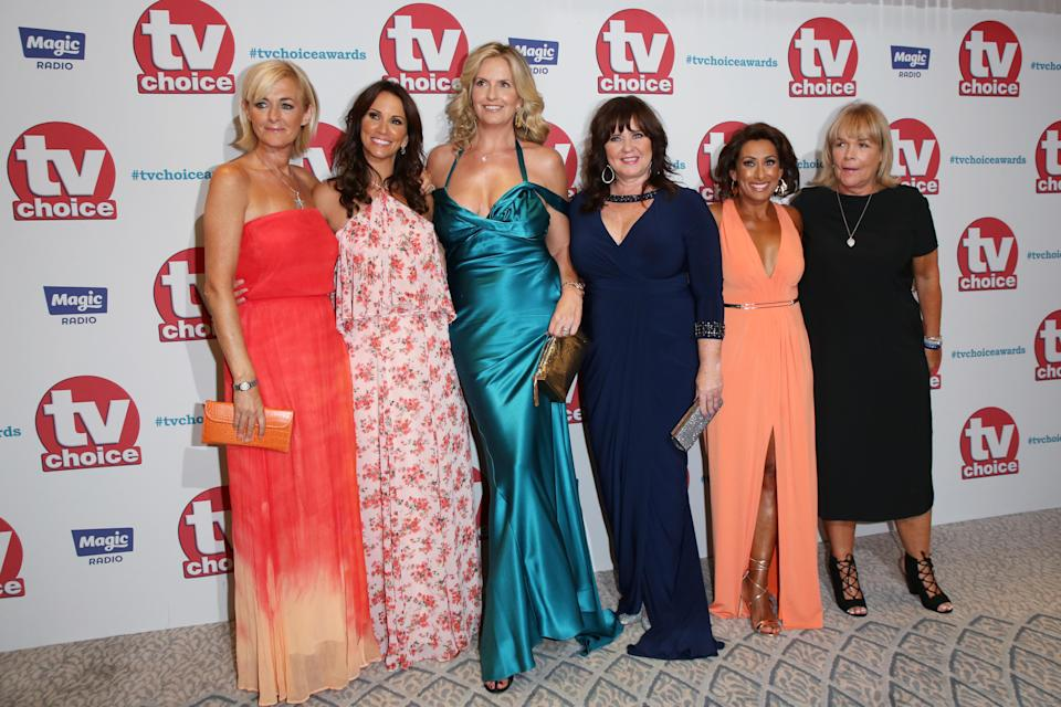 Coleen and her Loose Women ladies on the red carpet of the TV Choice awards (WENN)