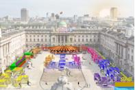 """<p>Somerset House encourages you to embrace your inner child with Dodge, its new conceptual open-air experience that offers a twist on the traditional fairground. Its famed courtyard will host dodgems, where every thump of the bumper car triggers explosive new musical material from Mercury Prize 2020 nominee Anna Meredith. Culinary star Jimmy Garcia will host a new pop-up, serving up summer favourites from street food to seriously extra sundaes, as well as weekend brunches with live DJ sets to kickstart those long summer days. Dodge: Drink, Dine and Dodgems will serve as much-needed playful afternoon out to be enjoyed by adults and children alike.</p><p><a href=""""https://www.somersethouse.org.uk/whats-on/dodge-summer"""" rel=""""nofollow noopener"""" target=""""_blank"""" data-ylk=""""slk:Somerset House"""" class=""""link rapid-noclick-resp"""">Somerset House</a>, Strand, London WC2R 1LA</p>"""