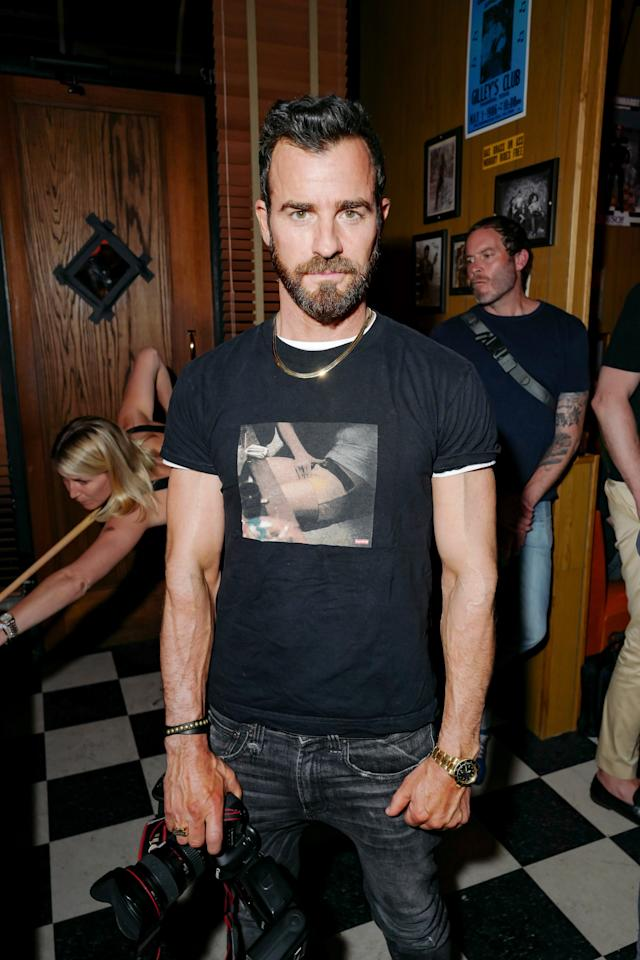 Justin Theroux attends the opening of Ray's in New York, NY.