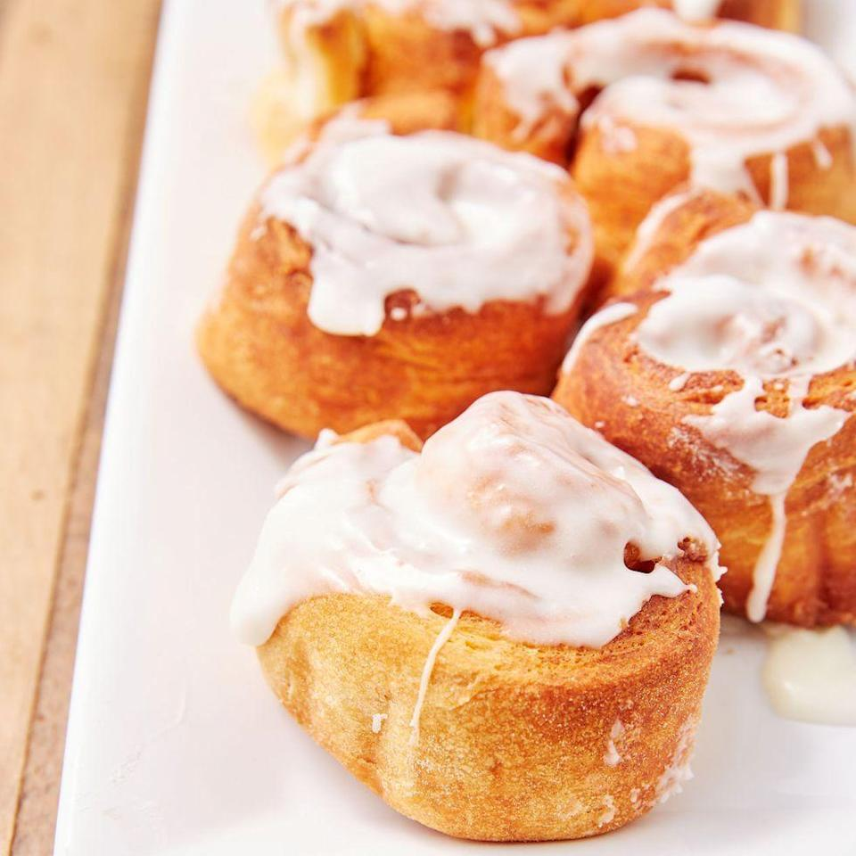 """<p>If homemade <a href=""""https://www.delish.com/uk/cooking/recipes/a32443785/cinnamon-rolls-recipe/"""" rel=""""nofollow noopener"""" target=""""_blank"""" data-ylk=""""slk:Cinnamon Rolls"""" class=""""link rapid-noclick-resp"""">Cinnamon Rolls</a> seem like too much work on Saturday morning then we've found you the perfect solution. No need to wait on dough to rise with these easy air fryer cinnamon rolls. </p><p>Get the <a href=""""https://www.delish.com/uk/cooking/recipes/a34379112/air-fryer-cinnamon-rolls-recipe/"""" rel=""""nofollow noopener"""" target=""""_blank"""" data-ylk=""""slk:Air Fryer Cinnamon Rolls"""" class=""""link rapid-noclick-resp"""">Air Fryer Cinnamon Rolls</a> recipe.</p>"""