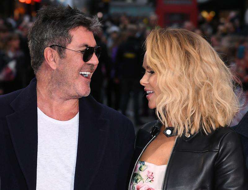 Simon Cowell and Amanda Holden arriving at the Britains Got Talent London Auditions held at The London Palladium