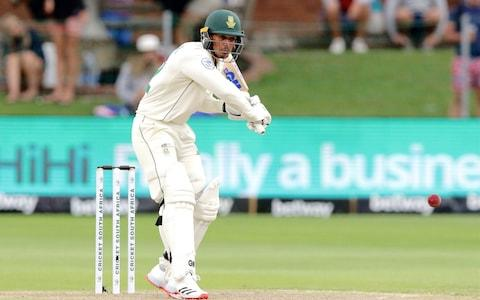 South Africa's Quinton de Kock prepares to play a shot during the third day of the third Test cricket match between South Africa and England at the St George's Park Cricket Ground in Port Elizabeth on January 18, 2020 - Credit: AFP