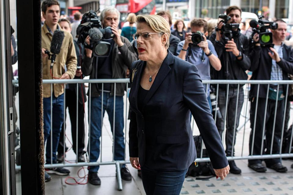 Eddie Izzard arrives ahead of a meeting of the National Executive of Britain's Labour Party on September 4, 2018 in London, England. (Jack Taylor/Getty Images)