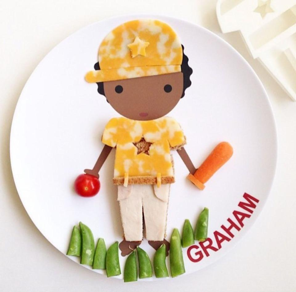 """You and your little loved one can decorate this plate to your heart's content.<br /><br />This business is run by Leslie Mingo, who designs each of her plates to inspire children to have fun while eating food that is nutritious for them. All products are made in the U.S. And if you're looking for cute food inspiration,<a href=""""https://www.instagram.com/dylbug_/?hl=en"""" target=""""_blank"""" rel=""""noopener noreferrer"""">Dylbug's Instagram</a>is outta-this-world darling!<br /><br /><strong>Get it from Dylbug for<a href=""""https://go.skimresources.com?id=38395X987171&xs=1&url=https%3A%2F%2Fwww.dylbug.com%2Fstore%2Fc41%2FDishes.html&xcust=HPToddlerMealtime60885fbae4b0ccb91c2ac430"""" target=""""_blank"""" rel=""""noopener noreferrer"""">$22+</a>(available in several styles).</strong>"""